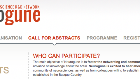 NEUROGUNE 2018, 7th September (deadline for submitting abstract  June 1st)