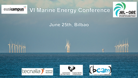 The VI Marine Energy Conference in Bilbao on June 25th